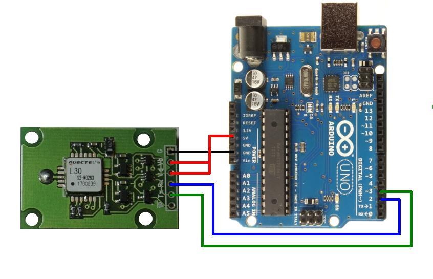 Подключение GPS L30 модуля к Arduino